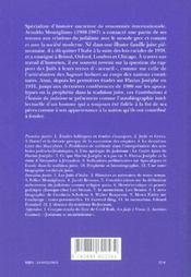Contributions A L'Histoire Du Judaisme - 4ème de couverture - Format classique
