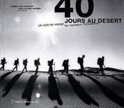 40 jours au desert un style de voyage, les nouveaux therapeutes - Couverture - Format classique