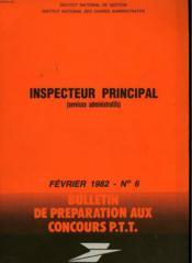Bulletins De Preparation Aux Concours P.T.T N°6 - Couverture - Format classique