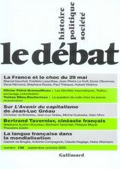 Revue Le Débat N.136 ; septembre-octobre 2005 - Intérieur - Format classique
