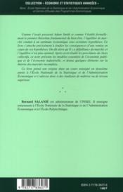 Microeconomie ; Les Defaillances Du Marche - 4ème de couverture - Format classique