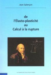 De L'Elasto-Plasticite Au Calcul A La Rupture Avec Cd-Rom - Intérieur - Format classique