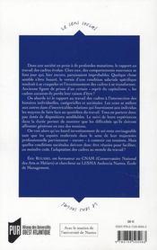Vies de vadres ; vers un nouveau rapport au travail - 4ème de couverture - Format classique