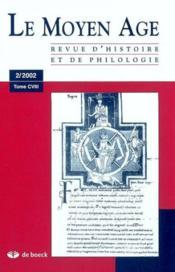 Revue du moyen age t cviii/2002/2 - Couverture - Format classique