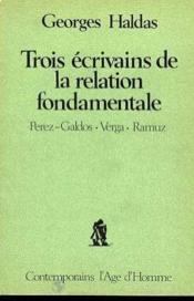 Trois Ecrivains De La Relation Fond - Couverture - Format classique