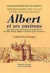 Albert Et Ses Environs - Couverture - Format classique