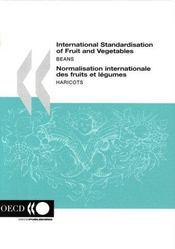 International standardisation of fruit and vegetables beans - 4ème de couverture - Format classique