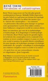 Paraboles et catastrophes ; entretiens sur les mathématiques, la science et la pholosophie - 4ème de couverture - Format classique