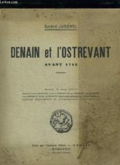 Denain Et L Ostrevant Avant 1712. - Couverture - Format classique