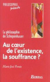 Schopenhauer ; Au Coeur De L'Existence, La Souffrance ? - Intérieur - Format classique