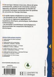Guide pratique de l'électrotechnique (édition 2008) - 4ème de couverture - Format classique