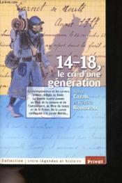 14-18 ; le cri d'une generation - Couverture - Format classique