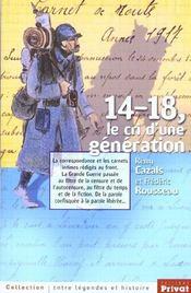 14-18 ; le cri d'une generation - Intérieur - Format classique