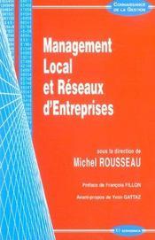 Management local et reseaux d'entreprises - Intérieur - Format classique