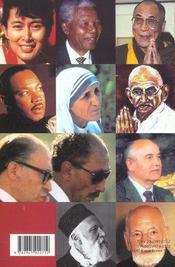 Preceptes de paix des Prix Nobel - 4ème de couverture - Format classique
