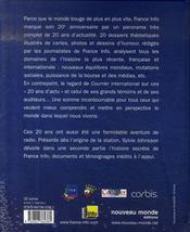 France info, 20 ans d'actualité - 4ème de couverture - Format classique