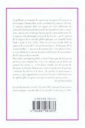 Manuel de sagesse du monde ordinaire - 4ème de couverture - Format classique