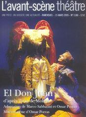 REVUE L'AVANT-SCENE THEATRE N.1180 ; el Don Juan - Intérieur - Format classique