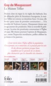 La maison tellier - 4ème de couverture - Format classique