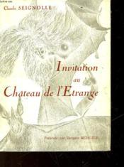 Chronique De L'Etrange Et Du Fantastique Volume 1 - Invitation Au Chateau De L'Etrange - Couverture - Format classique