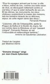 Lisbonne - 4ème de couverture - Format classique