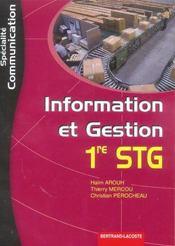 Stg ; Information Et Gestion ; Specialite Communication - Intérieur - Format classique