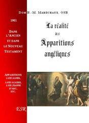 La Realite Des Apparitions Angeliques - Couverture - Format classique