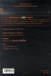 Perversion et père-version - 4ème de couverture - Format classique