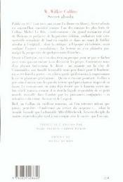 Secret Absolu - 4ème de couverture - Format classique