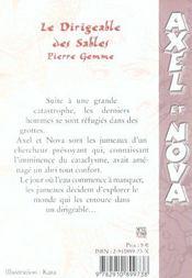 Dirigeable Des Sables - 4ème de couverture - Format classique