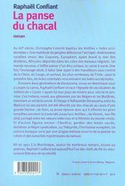 La Panse Du Chacal - 4ème de couverture - Format classique
