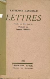 Lettres De Katherine Mansfield - Couverture - Format classique