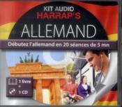 Kit Audio Harrap'S ; Allemand ; Débutez L'Allemand En 20 Séances De 5 Mn - Couverture - Format classique