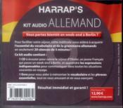 Kit Audio Harrap'S ; Allemand ; Débutez L'Allemand En 20 Séances De 5 Mn - 4ème de couverture - Format classique