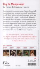 Le rosier de madame Husson - 4ème de couverture - Format classique