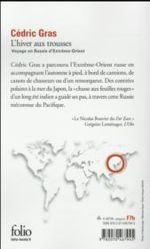 L'hiver aux trousses ; voyage en Russie d'Extrême-Orient - 4ème de couverture - Format classique