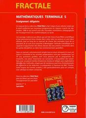 Maths obligatoire eleve fractale terminale s - 4ème de couverture - Format classique