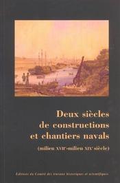 Constructions et chantiers navals ; milieu XVIIe - milieu XIXe siècle - Intérieur - Format classique