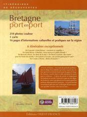 La Bretagne de port en port - 4ème de couverture - Format classique