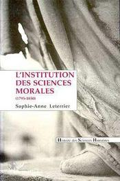 L'Institution Des Sciences Morales - Intérieur - Format classique