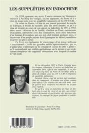 Suppletifs En Indochine 1951-1953 - 4ème de couverture - Format classique