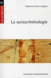La sociocriminologie - Intérieur - Format classique