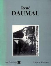 Rene Daumal - Couverture - Format classique