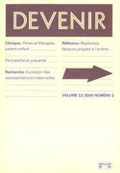 Revue De Psychopathologie Infantile T.12 N.2 ; Devenir - Intérieur - Format classique