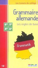 Grammaire allemande ; les règles de base - Intérieur - Format classique