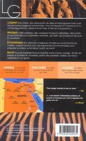 *Egypte (édition 2003) - 4ème de couverture - Format classique