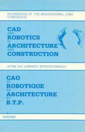 Cao et robotique en architecture et btp - Couverture - Format classique