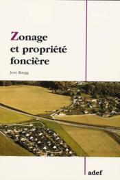 Zonage et propriete fonciere - Couverture - Format classique