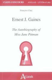 E.j gaines,the autobiography of jane ... - Intérieur - Format classique