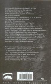 Ballon noir - 4ème de couverture - Format classique